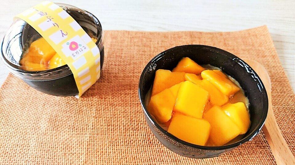 9日(木)から期間限定でマンゴー豆乳葛ぷりんを販売します(終了しました)
