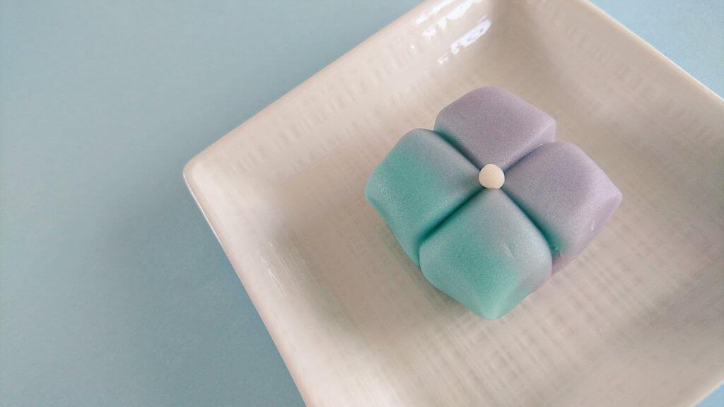 お茶菓子のご注文で紫陽花を作りました!