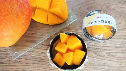 今日から期間限定でマンゴー豆乳葛ぷりんを販売します!(終了しました)