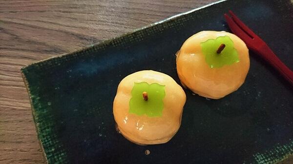 お茶菓子のご注文で早柿を作りました!